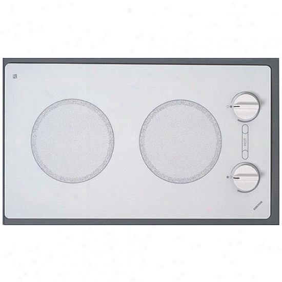 Kenyon 120v Alpine Trimline Dual Burner Cooktop - White