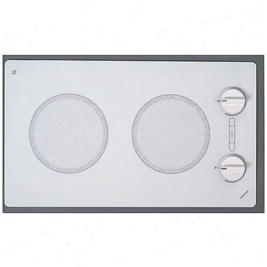 Kenyon 240v Mountainous Trimline Dual Burner Cooktop - White