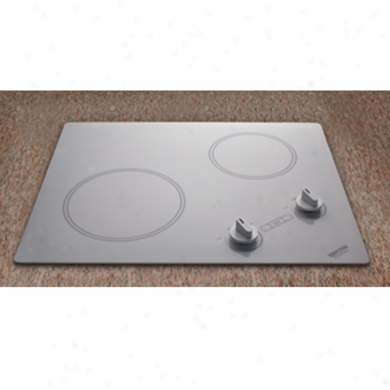 Kenyon 240v Antarctic Dual Burner Cooktop - White Glass