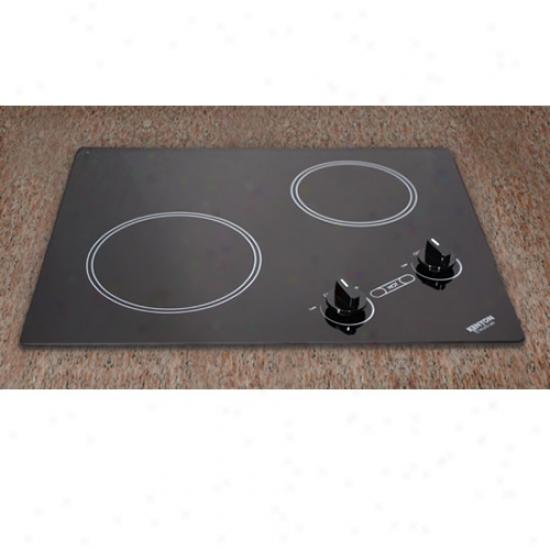 Kenyon 240v Arctic Dual Burner Cooktop - Black Glass