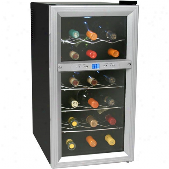 Koldfront 18 Bottle Dual Surface bounded by parallel circles Thermoelectric Wine Cooler