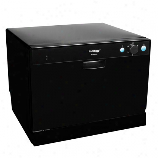 Koldfront 6 Place Setting Energy Star Countertop Dishwasher - Black