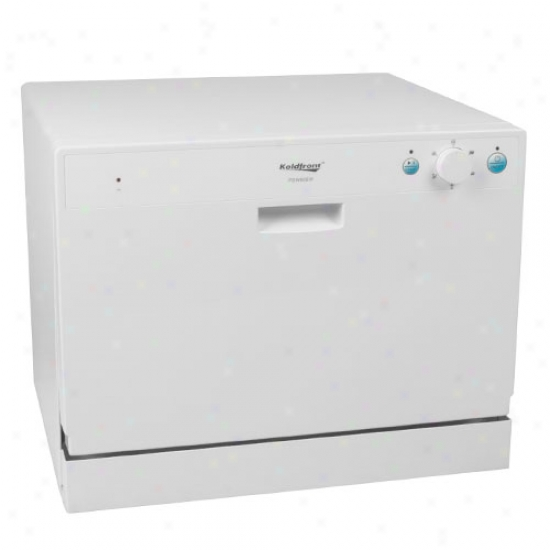 Koldfront 6 Place Setting Energy Star Countertop Dishwasher - White
