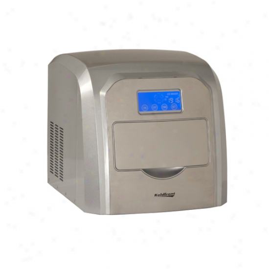 Koldfront Deluxe Stainless Steel Portable Ice Maker With Lcd Display