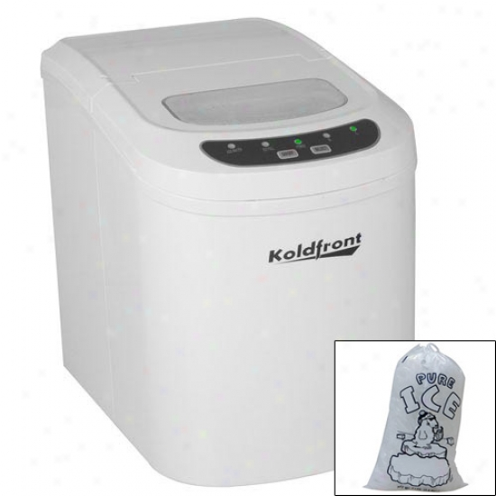 Koldfront Ultra Compact Portable Ice Maker With 10 Ice Bags