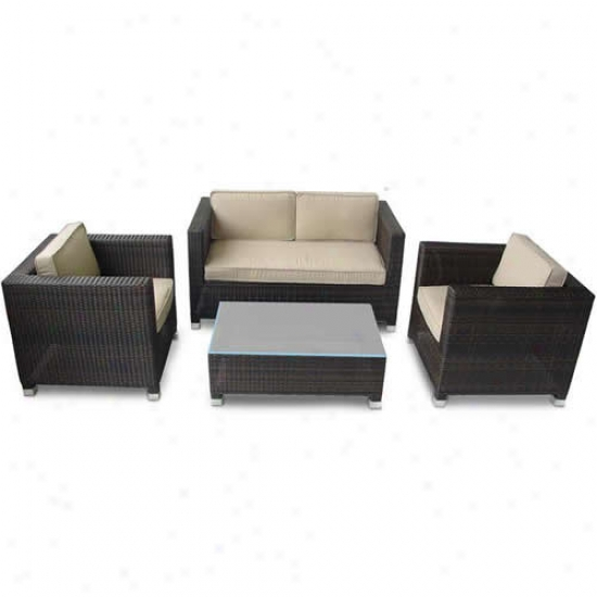 Kontiki Monte Carlo Series 4 Piece Conversation Set