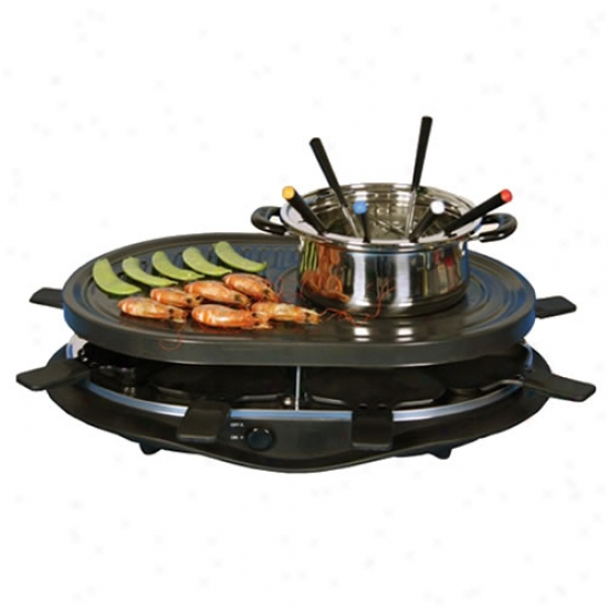 Koolatron Party Grill Raclette With Fondue Pot