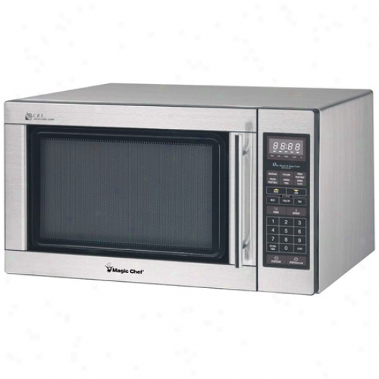Magic Chef 1.6 Cu. Ft. Microwave Oven - Stainless Steel