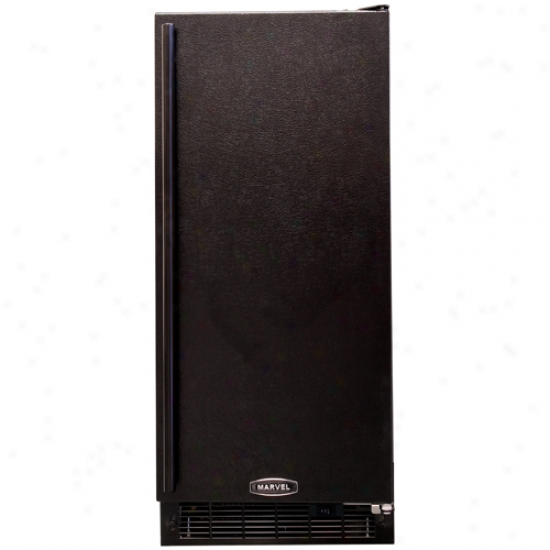 Marvel 15-inch Indoor Ice Maker With Black Cabinet And Black Door Upon Pump