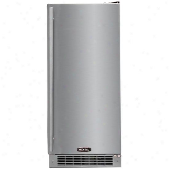 Marvel 15 Inch Exterior Refrigerator With Stainless Steel Cabinet And Locking Door