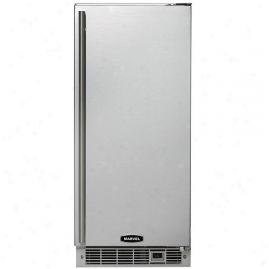 Marvel 15  Outdoor Crescent Ice Maker Stainless Steel