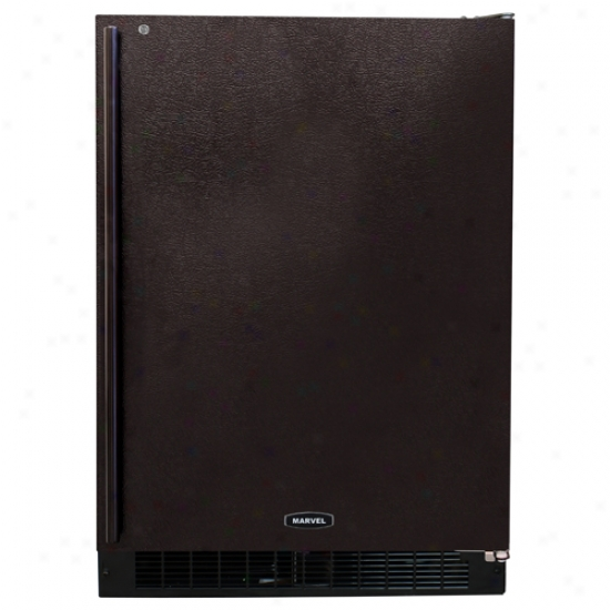 Marvel 24 Inch Energy Star Refrigerator With Black Cabinet And Black Locking Door