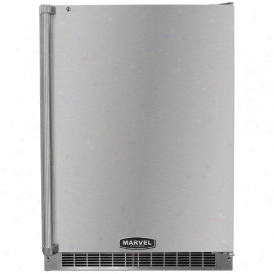 Margel 24 Inch Ohtdoor Refriigerator Stainless Steel Cabinet And Stainless Steel Locking Door