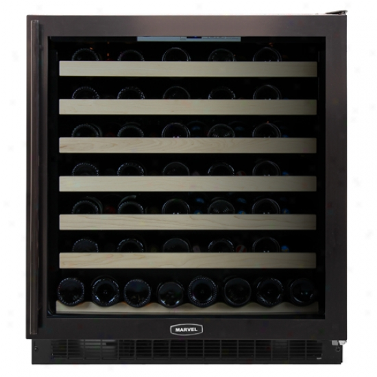 Marve l30-inch Wine Cellar With Black Cabinet And Black Trim Glass Door