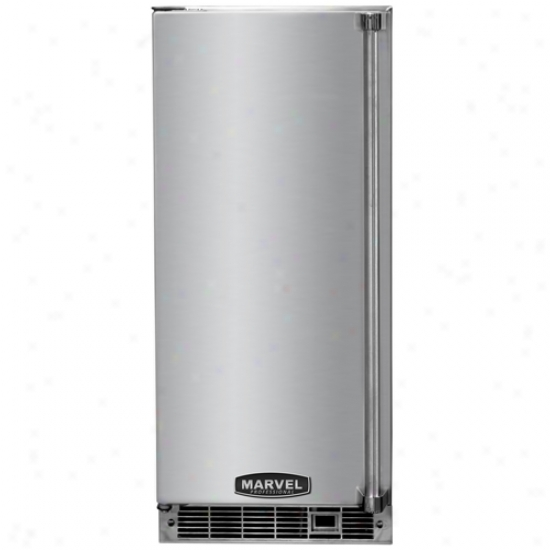 Marvel Professional 15 Inch Indoor Clear Ice Maker In the opinion of Stainless Steel Door