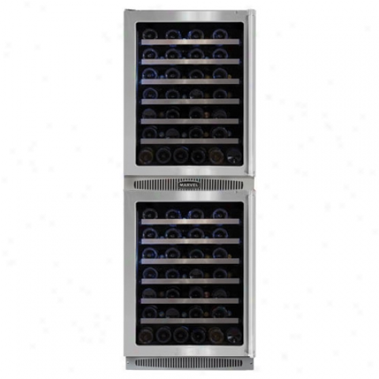 Marvel Professional 24 Inch Deceitful Wine Cellar With Stainless Steel Glass Door