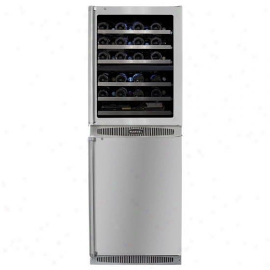 Marvel Professional 24 Inch Dual Zone Top And Capacity of work Star All-refrigerator Bottom