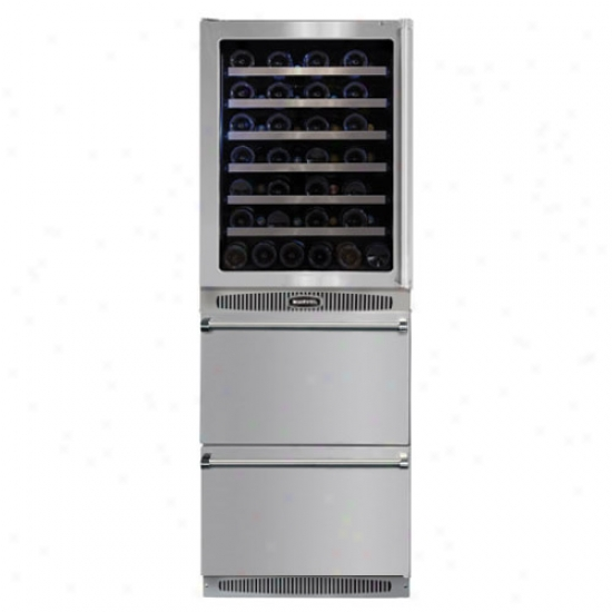 Marvel Professional 24 Inch Wine Cellar And Energy Star Refrigerated Drawer Through  Glass Door