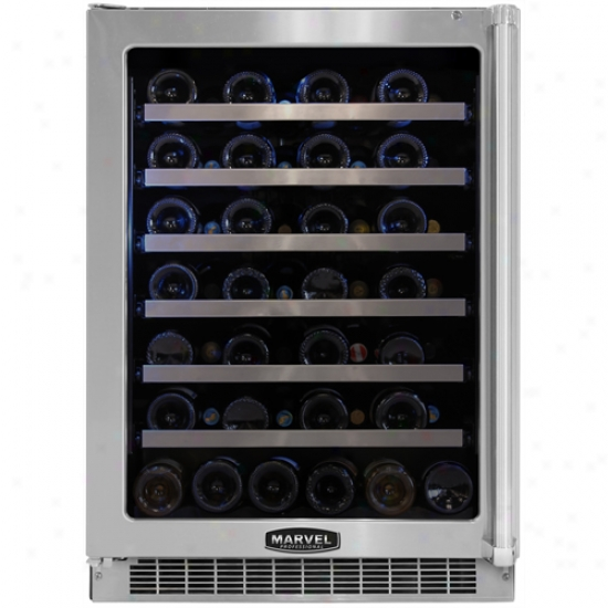 Wonder Proofessional 24 Inch Wine Cellar With Black Cabinet And Locking Glass Door