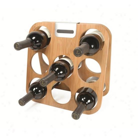 Metrokane Rabbit 8 Bottle Bamboo Wine Rack