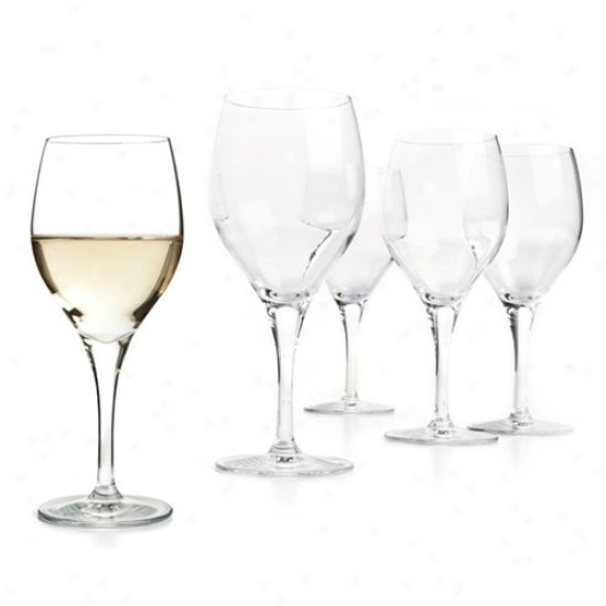 Metrokane Rabbit Highest White Wine Glasses (set Of 4)