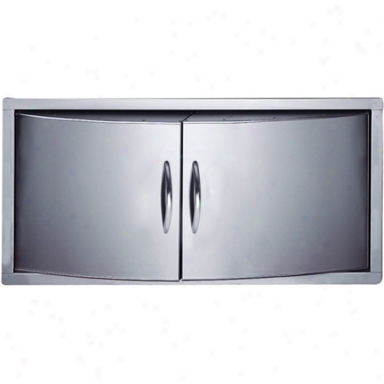 Napoleon Curved Stainless Steel Built-in Double Door For Prestige V