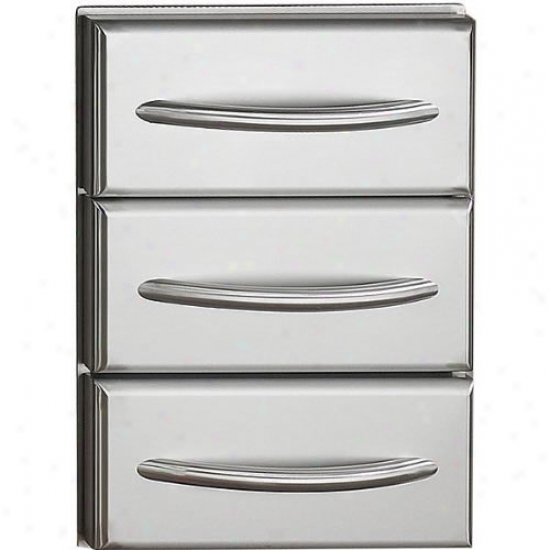 Napoleon Flat Ss Builr In Triple Drawer Kit W/ Curvef Handles