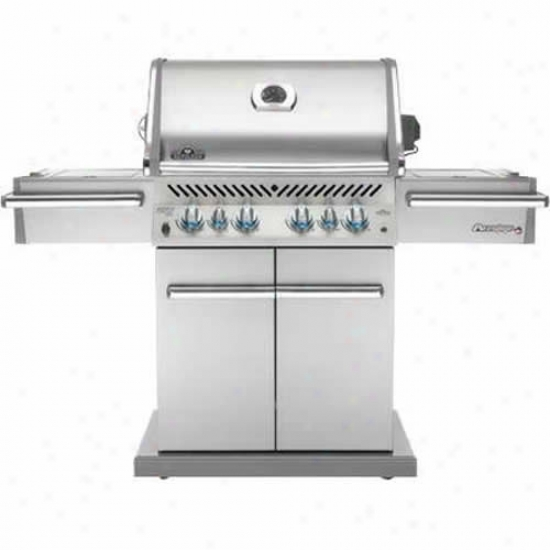Napoleon Prestige Grill W/ Rear & Side Infrared Burners, Stainless Steel Doors & Lid