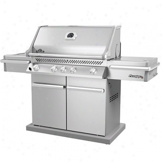 Napoleon Prestige Grill W/rear & Side Infrared Burner Ss Doors & Lid