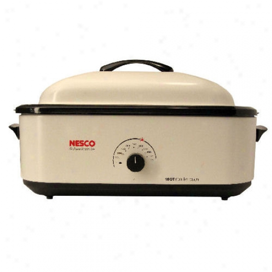 Nesco 18 Quart Roaster With Non-stick Cookwell - Ivory