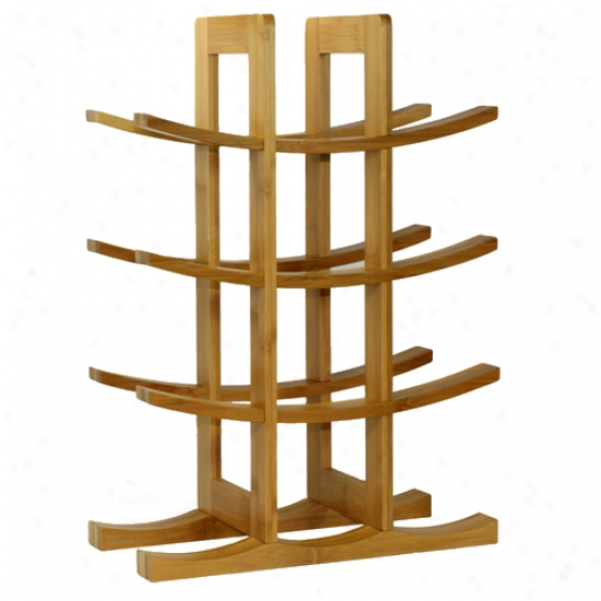 Oceanstar 12 Bottle Natural Bamboo Wine Rack