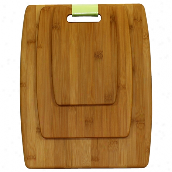Oceanstar 3 Piece Bamboo Cutting Board Set