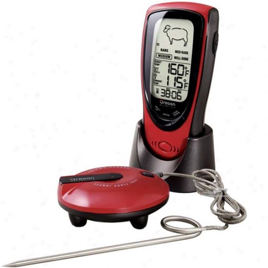 Oregon Scientific Talkihg Wireless Bbq / Oven Thermometer