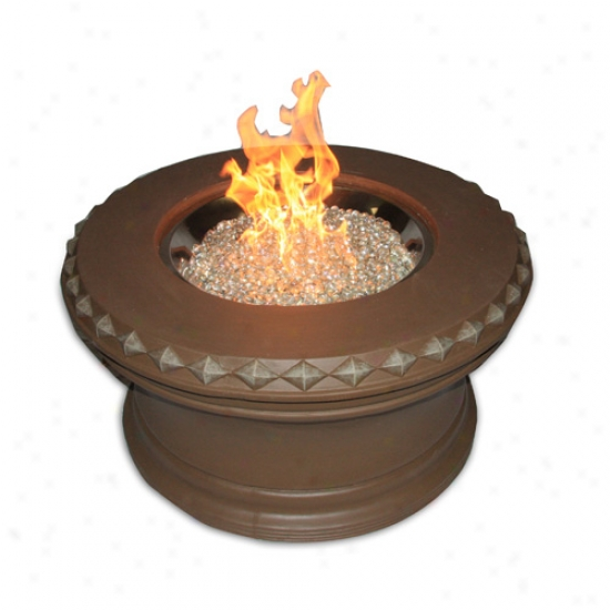 Outdoor Greatroom 36  Aztec Liquod Propane Campfire With Crystal Fire Burner