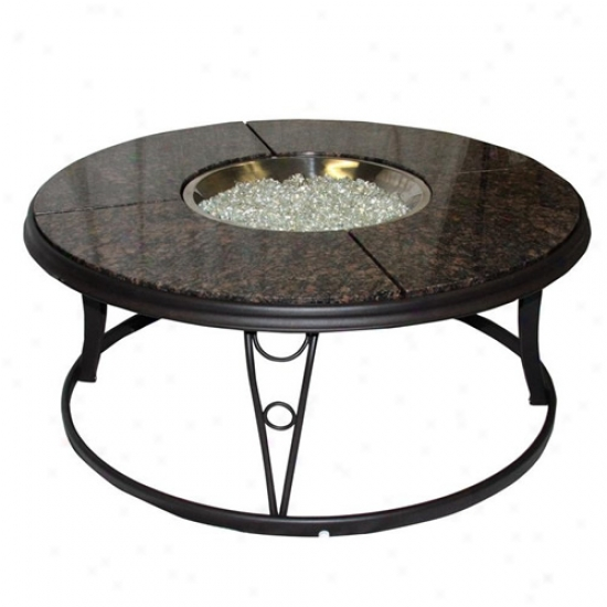 Outdoor Greatroom 48 Inch Granite Fire Pit Table