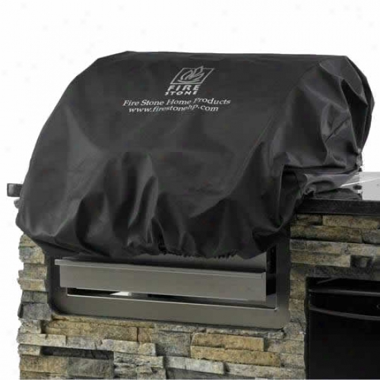Outdoor Greatroom Company 24  Premium Black Vinyl Cover For Island Gas Grill Head