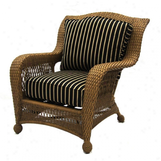 Outdoor Greatroom Assemblage All-weather Wicker Stackable Chair With Harwood Onyx Cushinos