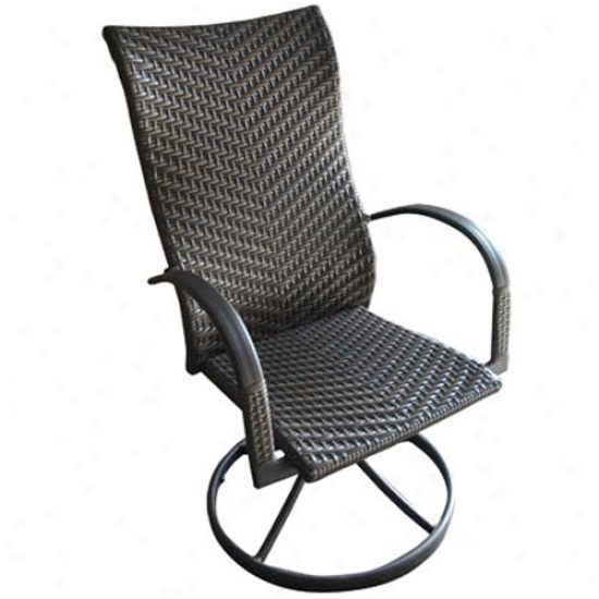 Outdoor Greatroom Company All-weather Wicked Swivel Dining Rockers (set Of 2)
