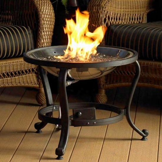 Outdoor Greatroom Company Crystal Fire Burner With Tripod