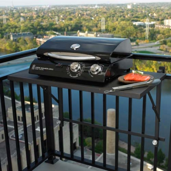 Outdoor Greatroom Company Deck Rail Shelf Grill Accessory