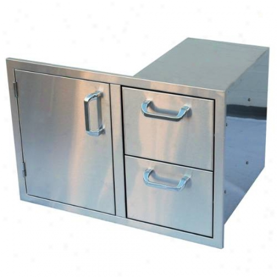 Outdoor Greatroom Company Snigle Door And Double Drawer Combo Unit