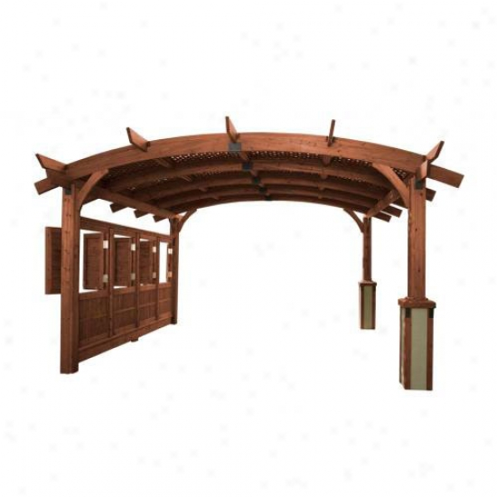 Outdoor Greatroom Company Sonoma 12' X 12' Arched Wood Outdoor Pergola