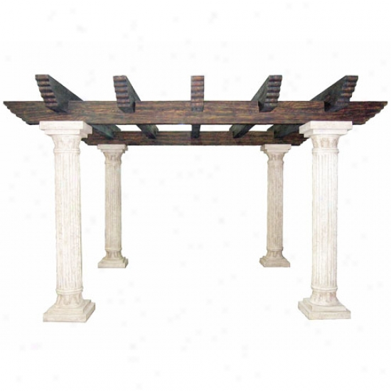 Outdoor Greatroom Company Tuscany Ii Deluxe Reinforced Fiberglass Pergola With Supports