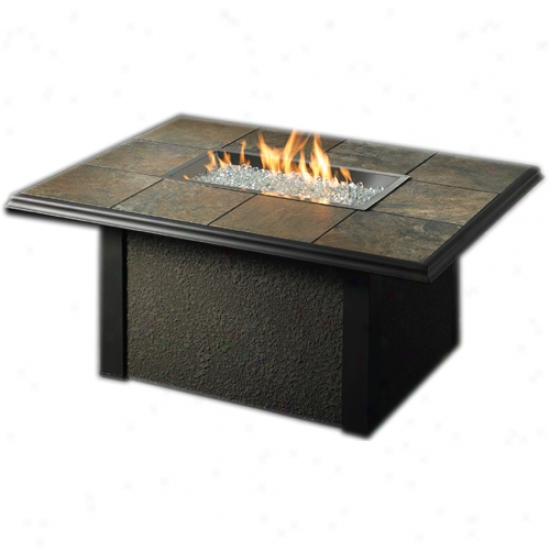 Outdoor Greatroom Napa Valley Rectangular Fire Pit Table