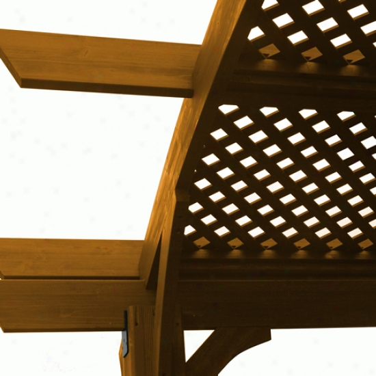 Outdoor Greatroom Redwoood Lattice Roof In Douglas Fir For The Sonoma1216-r