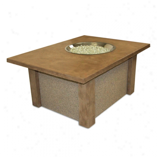 Outdoor Greatroom San Juan Firw Pit Coffee Table W/ Crystal Fire Burner