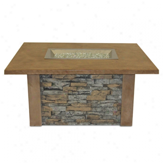 Exterior Greatroom Sierra Firepit Table W/ 12  X 24  Discharge a gun Burner
