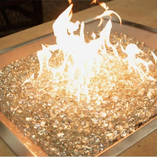 Outdoof Greatrkom Square Crystal Fire Stainless Steel Fire Put Burner