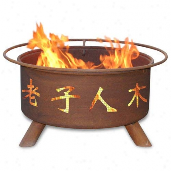 Patina 30  Chinese Symbols Fire Pit