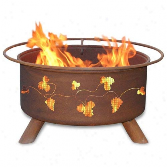 Patina 30  Grapevines Fire Pit